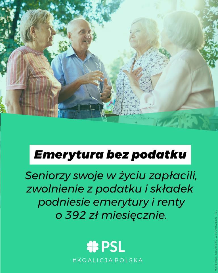 Emerytura bez podatku w Sejmie